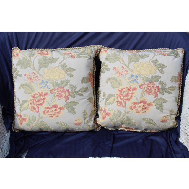 Pr. Of Possible Italian Scalamandre Down Filled Pillows For Sale - Image 12 of 13