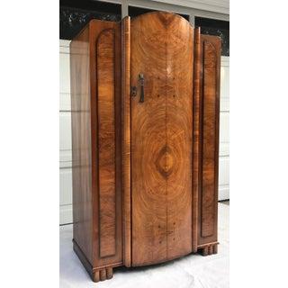 1940's Vintage Art Deco Burl Wood Armoire Preview