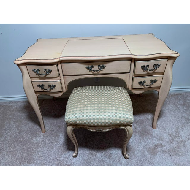 Wood Karges Vanity Dressing Table - a Pair For Sale - Image 7 of 8