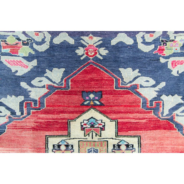 """House of Séance - 1940s Vintage Anatolian Taspinar Oushak Wool Pile Hand-Knotted Rug - 4'10"""" X 8' For Sale In Los Angeles - Image 6 of 11"""