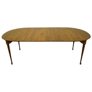 "20th Century Traditional Nichols & Stone Solid Cherry Classic Country Style 86"" Dining Table For Sale"
