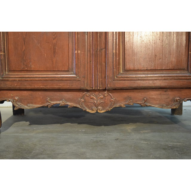 18th Century Louis XV French Pine Armoire For Sale - Image 4 of 6