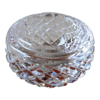1960s Alana Waterford Crystal Ashtray Signed For Sale