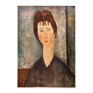 "1958 Modigliani, ""Young Girl With Brown Hair"" First English Edition Lithograph For Sale"