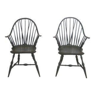 Pair M.Dunban Bench Made Windsor Armchairs For Sale