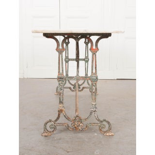 19th Century French Marble-Top and Iron Bistro Table Preview