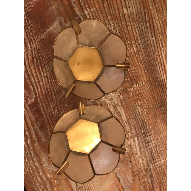 Vintage Lotus Brass Candle Holders - A Pair - Image 2 of 9
