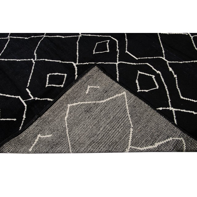 Modern Moroccan Style Wool Rug 10 X 14 For Sale - Image 4 of 13