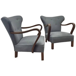 Pair of Vintage Scandinavian Chairs For Sale