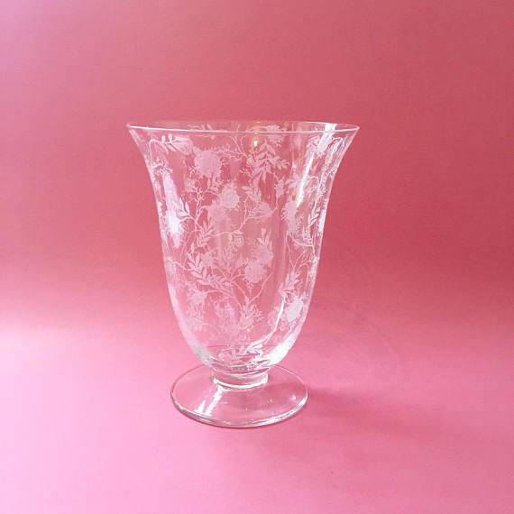 Fostoria Chintz Depression Glass Vase Chairish
