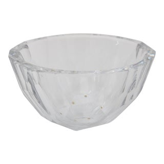 Orrefors Signed Glass Bowl For Sale