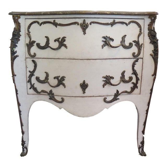 19th Century Rococo Painted Commode For Sale
