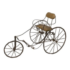 American Victorian iron tricycle with a carriage seat For Sale
