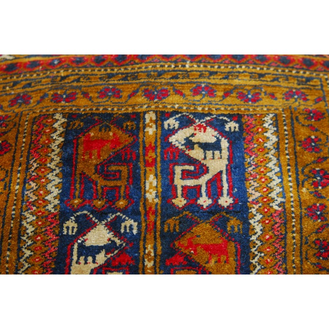 Oversized Turkish Rug Pillows - A Pair - Image 5 of 6