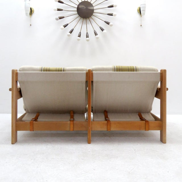 1970s 1970's Vintage Bernt Petersen Loveseat Sofa For Sale - Image 5 of 12