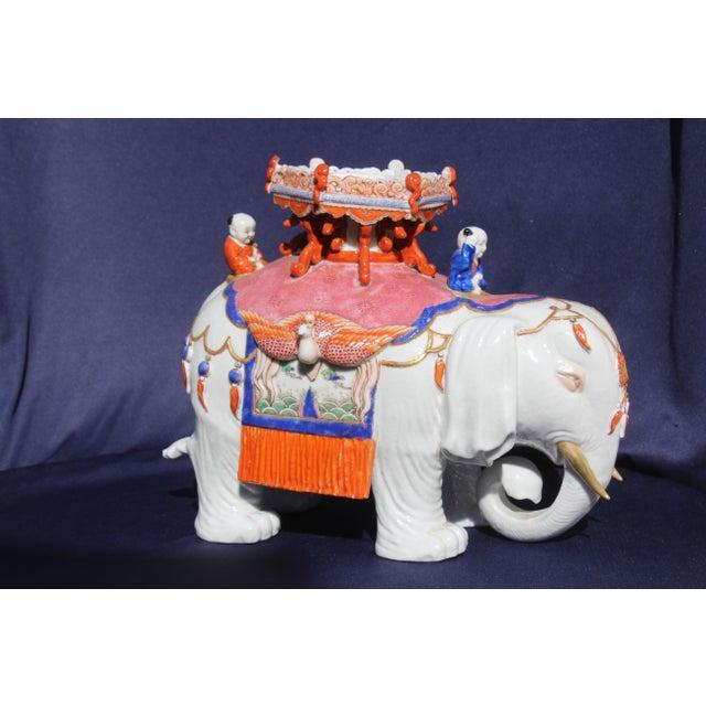 Ceramic Chinese Porcelain Elephant For Sale - Image 7 of 7