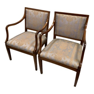 19th Century Empire Chairs Featuring Inlaid Wood - a Pair For Sale