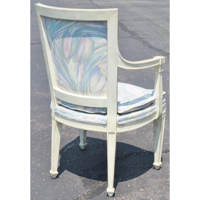 Set Of 4 Country Cream Dining Chairs: Distressed Cream Painted Dining Chairs - Set Of 6