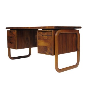 California Studio Handcrafted Koa Desk For Sale