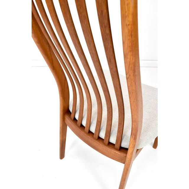 Orange Danish Modern Teak Dining Chairs by Edward Valentinsen - Set of Six For Sale - Image 8 of 13