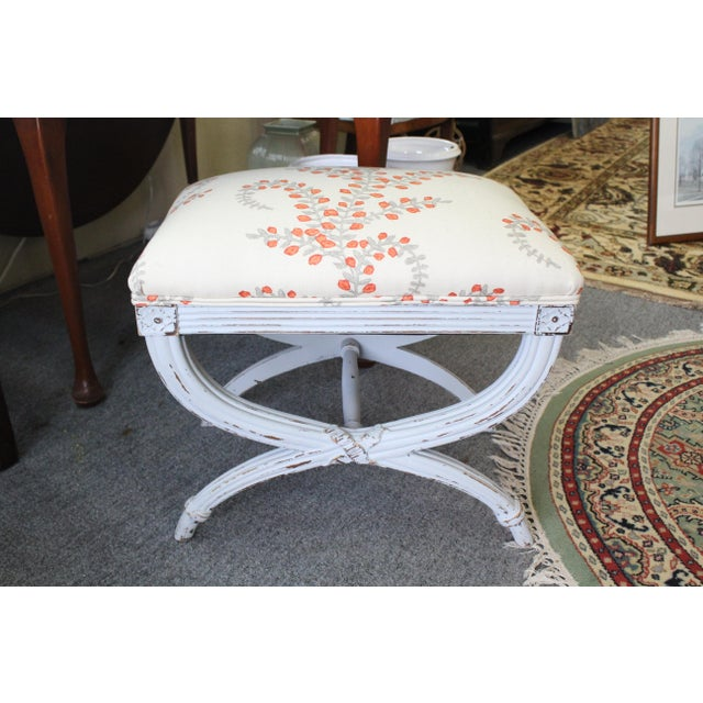 Late 20th Century Late 20th Century Vintage Upholstered Stool For Sale - Image 5 of 5