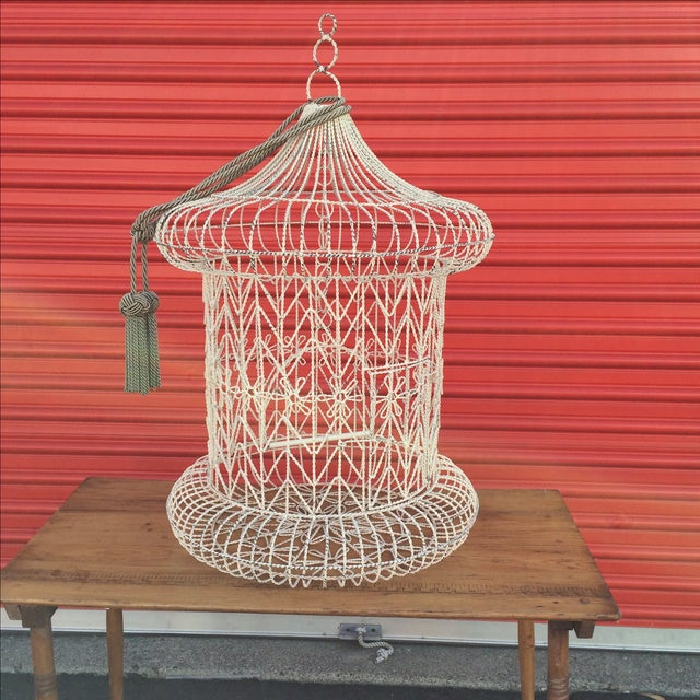 Vintage Shabby Chic Bird Cage - Image 9 of 9