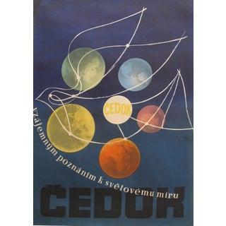 1960's Original Vintage Czech Republic Poster, Cedok, Travel Agency For Sale