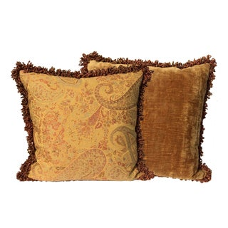 High End Custom Made Designer Pillows - Pair
