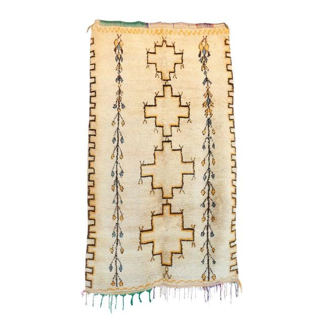 "Vintage Azilal Moroccan Berber Rug - 4'7"" x 8'0"" - Image 1 of 2"