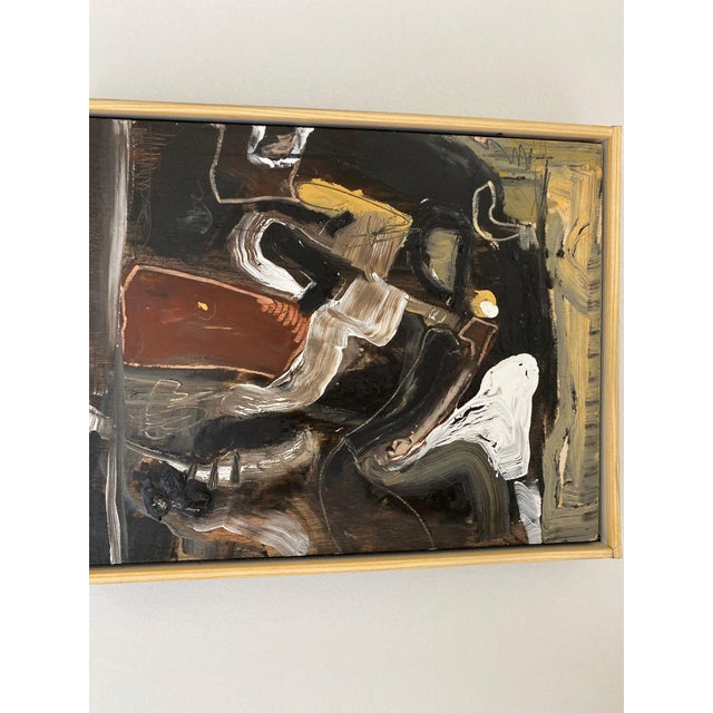 Abstract Contemporary Oil on Wood Abstract XIII by William McLure For Sale - Image 3 of 7