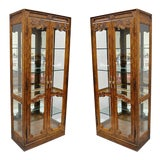 Image of 20th Century French Provincial Drexel Heritage Lighted Curio China Cabinet Display Case For Sale