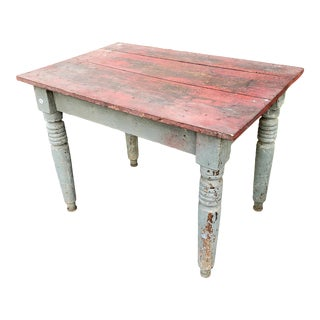 19th Century Primitive Farm Work Table For Sale