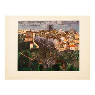"Raul Dufy, ""Vence"" Large Vintage Lithograph For Sale"