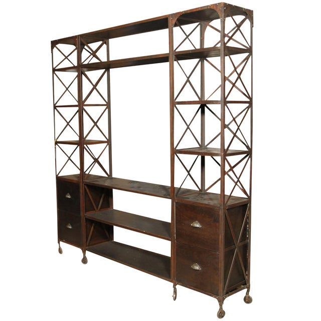 Entertainment Unit Made of Wood and Steel - Image 1 of 9