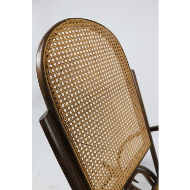 1950s 1950s Vintage Thornet Bentwood Rocking Chair For Sale - Image 5 of 6