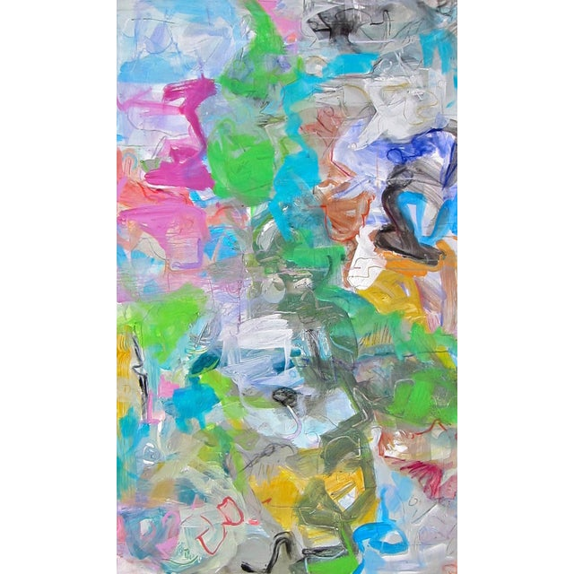 "Trixie Pitts ""Mardi Gras"" Abstract Painting by Trixie Pitts - Image 1 of 4"