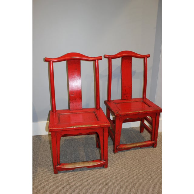 18th Century Chinese Rosewood Chairs 21Wx16Dx44D (Sold as a pair only)