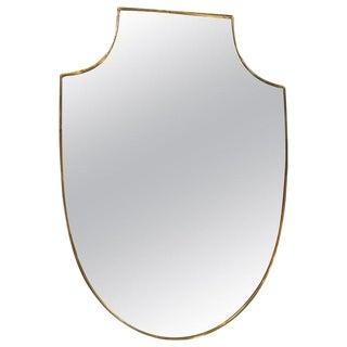1960s Italian Shield Wall Mirror For Sale
