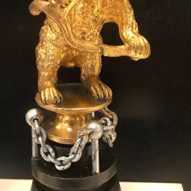 "19th Century Russian Ormolu ""Dancing Bear"" Sculpture For Sale - Image 9 of 11"