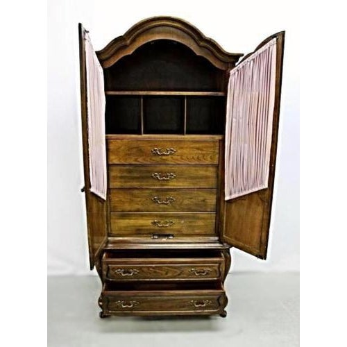 Carlton House French Louis XV Style Mahogany Armoire Cabinet - Image 3 of 11
