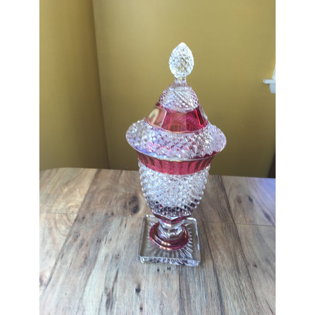 Nice fancy large candy dish with cover