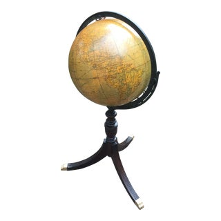 World Globe on Stand For Sale