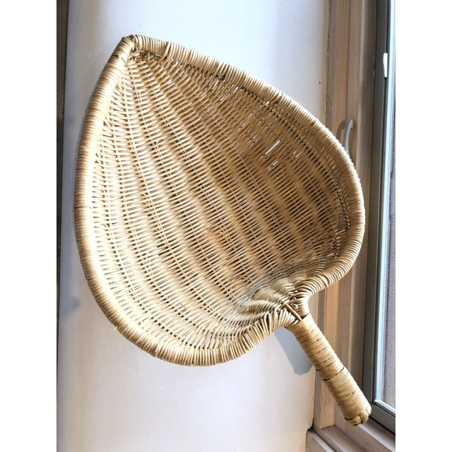 1960s 1960s Boho Chic Wicker Basket With Handle For Sale - Image 5 of 11