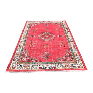 9.6' X 6.4' Turkish Oushak Floral Design Medallion Rug