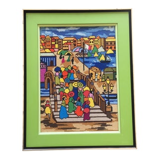 Framed Vintage Needlepoint Artwork