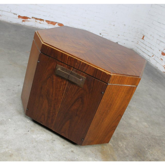 Mid-Century Modern Vintage Founders Furniture Cabinet Table For Sale - Image 3 of 11