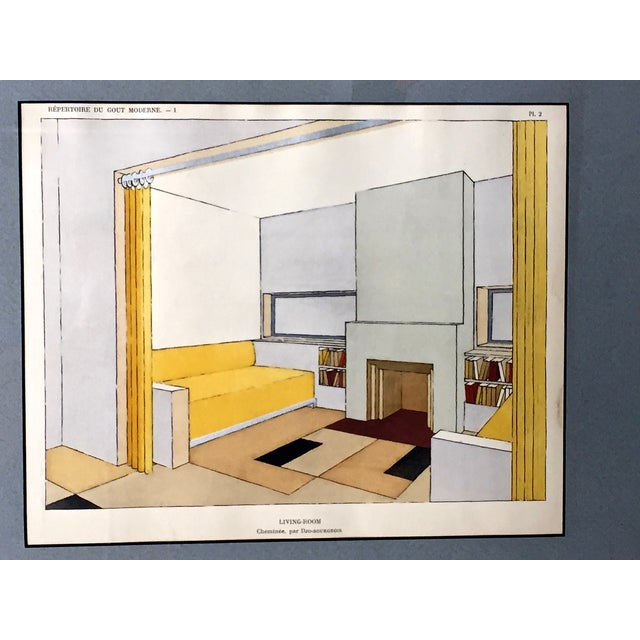 French Mid-Century Living Room Design Lithograph - Image 4 of 4