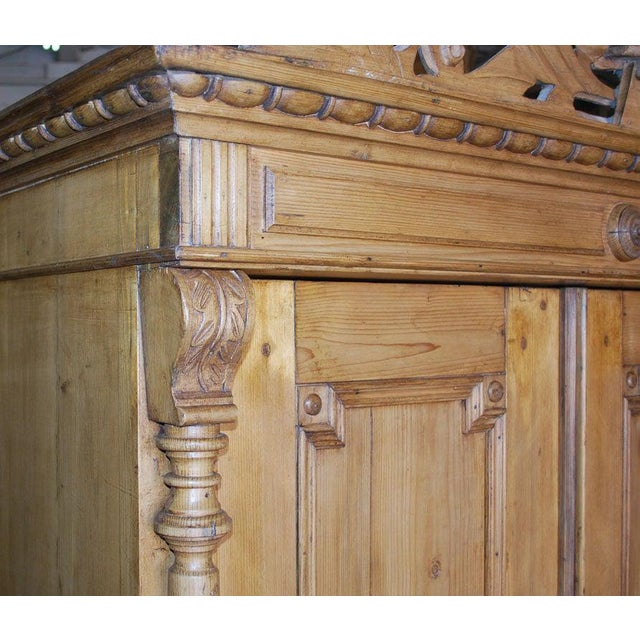 19th Century 19th Century Baltic Wood Armoire For Sale - Image 5 of 9