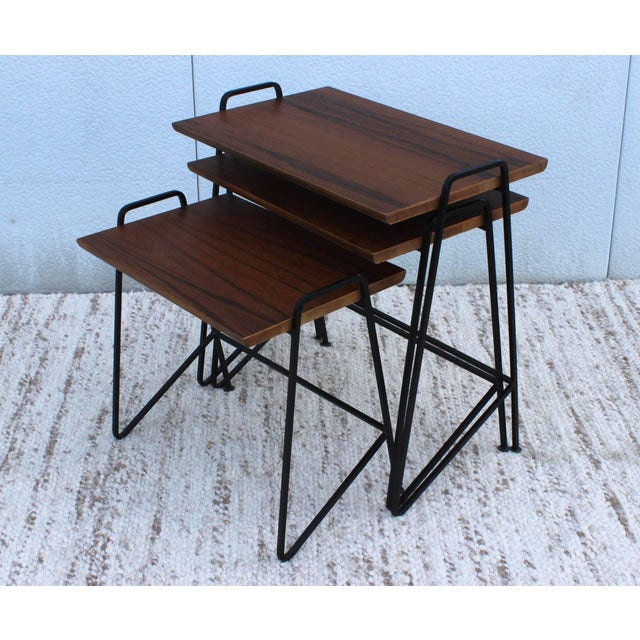Mid 20th Century Tony Paul Modernist Nesting Tables For Sale - Image 5 of 11