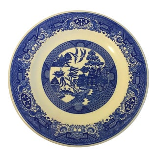 Antique Blue Willow Ware Royal China Dinner Plate For Sale
